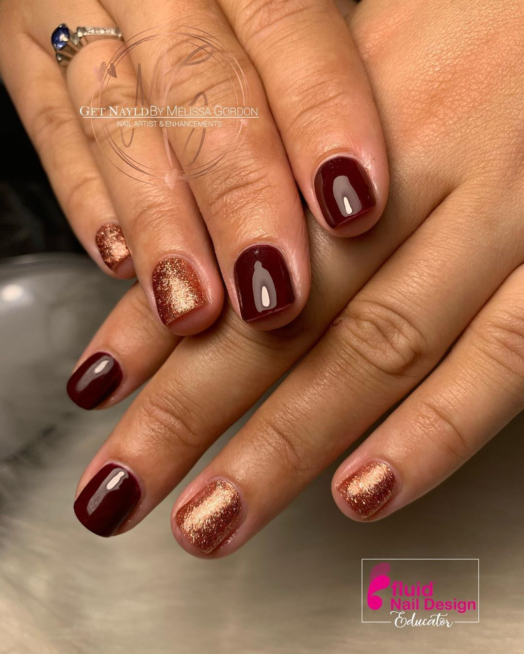 Builder gel manicure . . Are you a studying or qualified