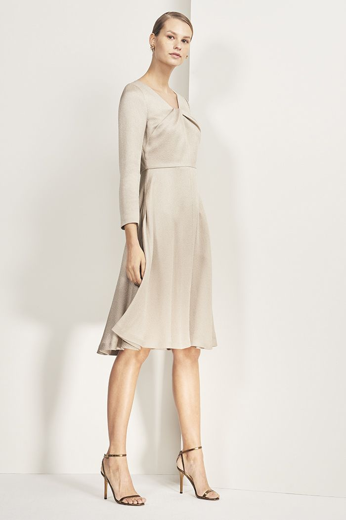 665137054c3 Bellevue dress in oyster textured satin - £365 Robes D événements