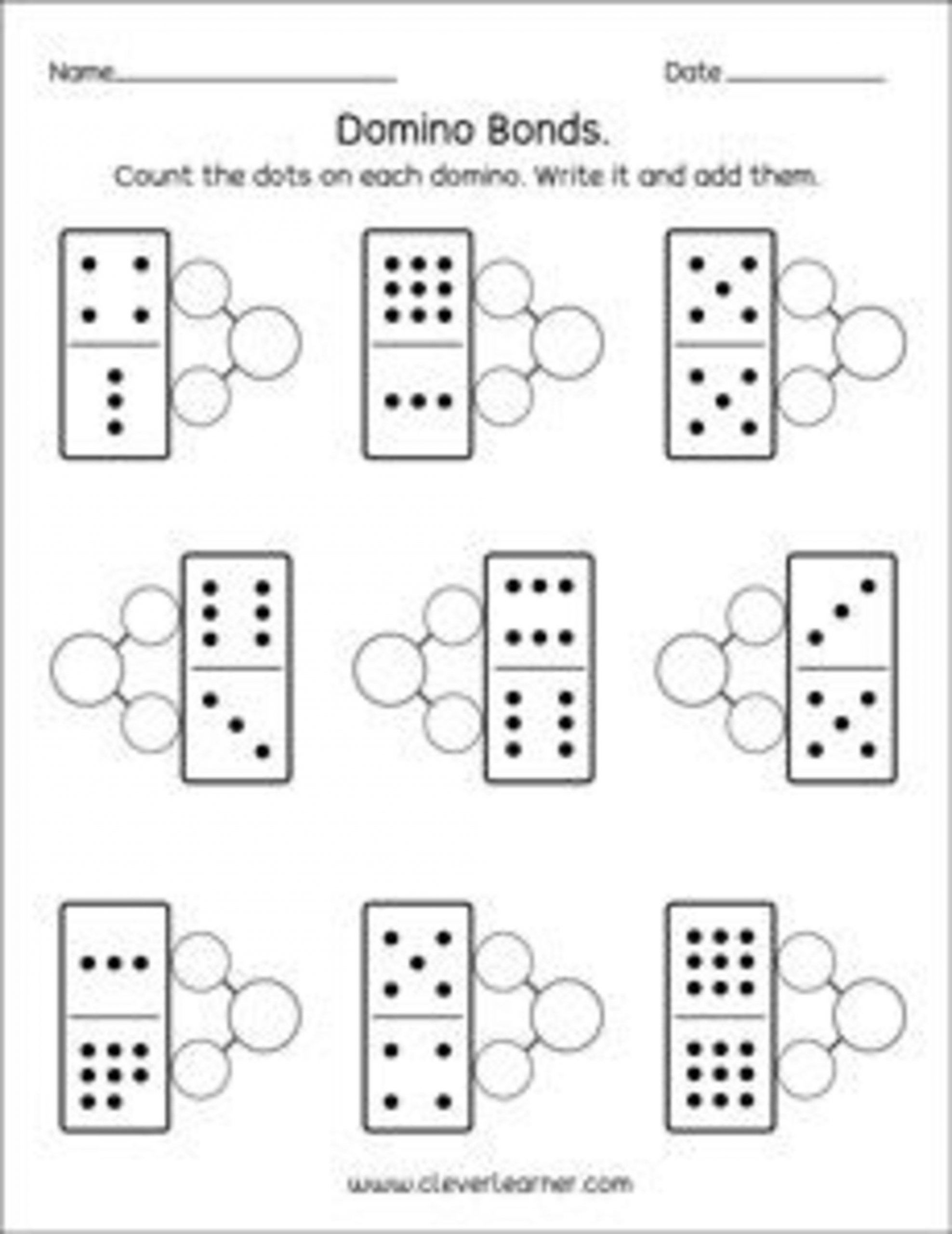 Number Bonds Worksheets 1st Grade In