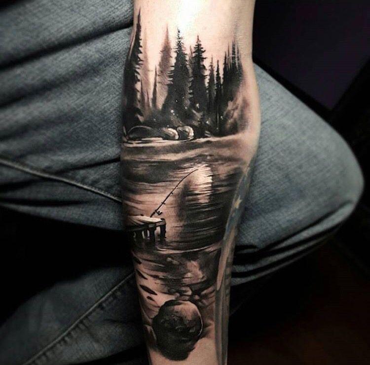 landscape tattoo tattoo pinterest tatuajes de naturaleza naturaleza y tatuajes. Black Bedroom Furniture Sets. Home Design Ideas