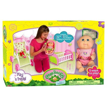 Cabbage Patch Kids Play N Travel Set With 9 Tiny Newborn Target Target Black Friday Sale 25 X2 Cabbage Patch Kids Patch Kids Kids Christmas List