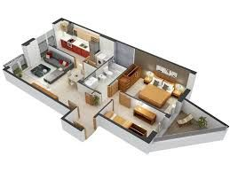 Image Result For 3 D Images Of First Floor Balcony Of A Rectangular Plot Two Bedroom House House Plans Bedroom House Plans