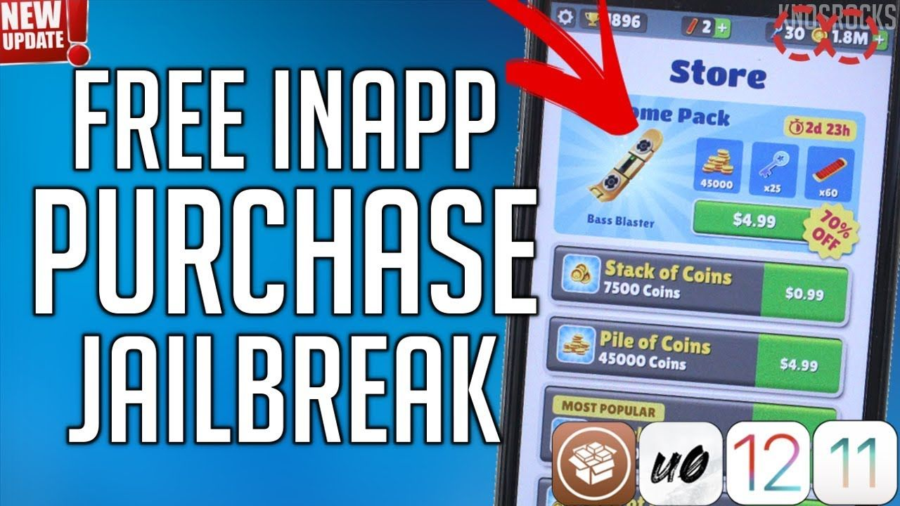 NEW!! How To Get FREE In App iOS 12 - 12 1 2 / 11 / 10 No PC