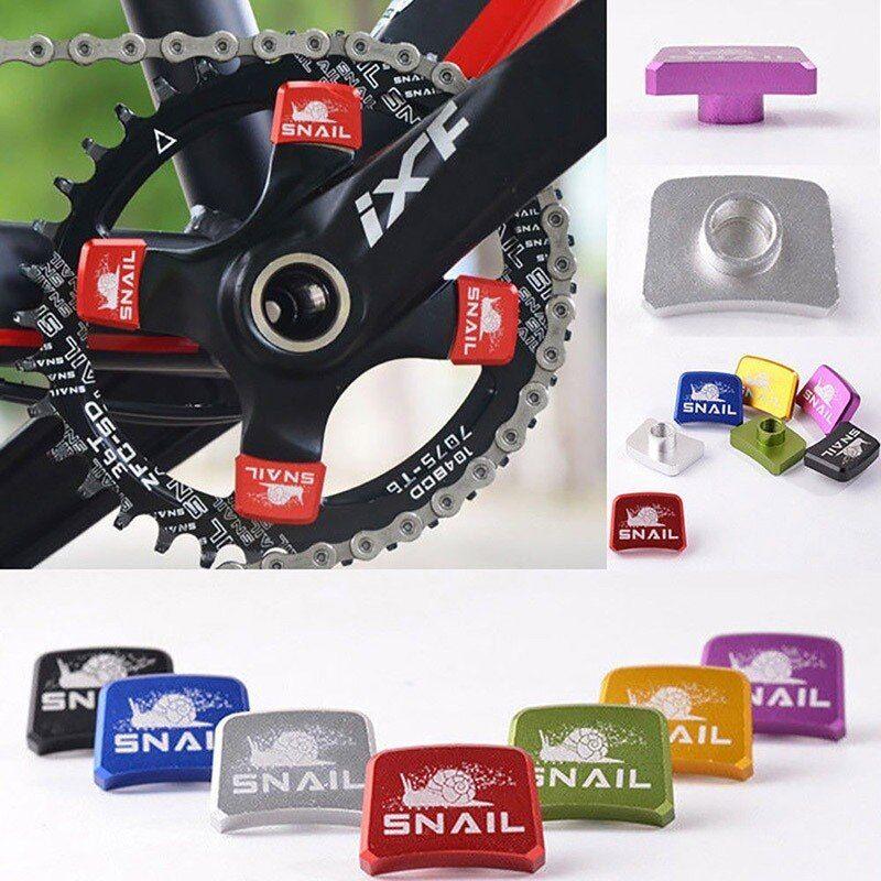 SNAIL 4PCS Aluminum MTB Road Bike Square Single-speed Chainring Bolts Screws