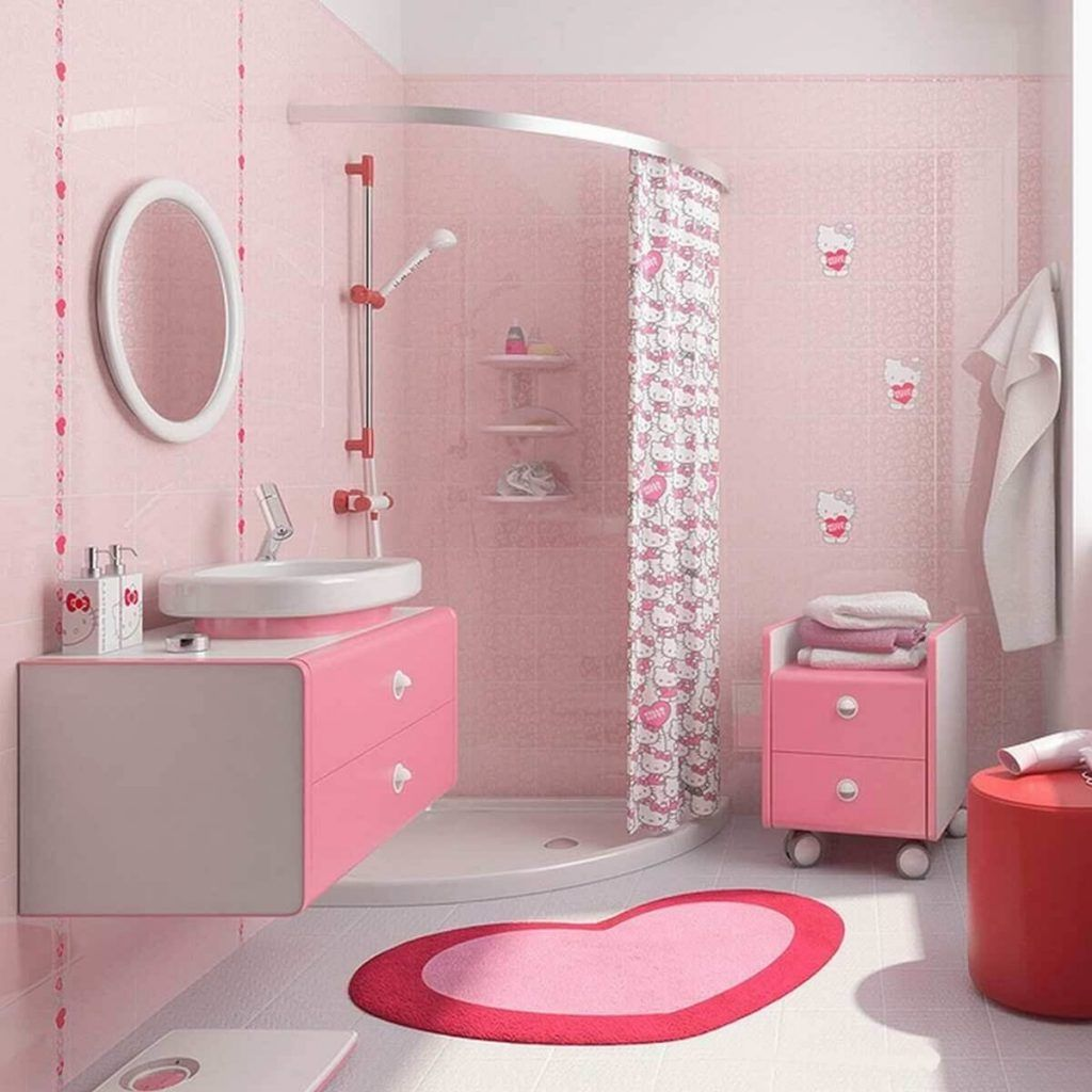 Romantic Pink Bathroom Designs Teracee Girl Bathrooms Girl Bathroom Decor Retro Pink Bathroom