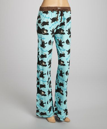 Take a look at this Blue 'Bearly Awake' Yoga Pants - Women by Lazy One on #zulily today!