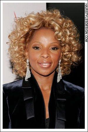 Pin By Keshini Hair On Mary J Blige Hair Permed Hairstyles Hair Styles Short Bob Hairstyles
