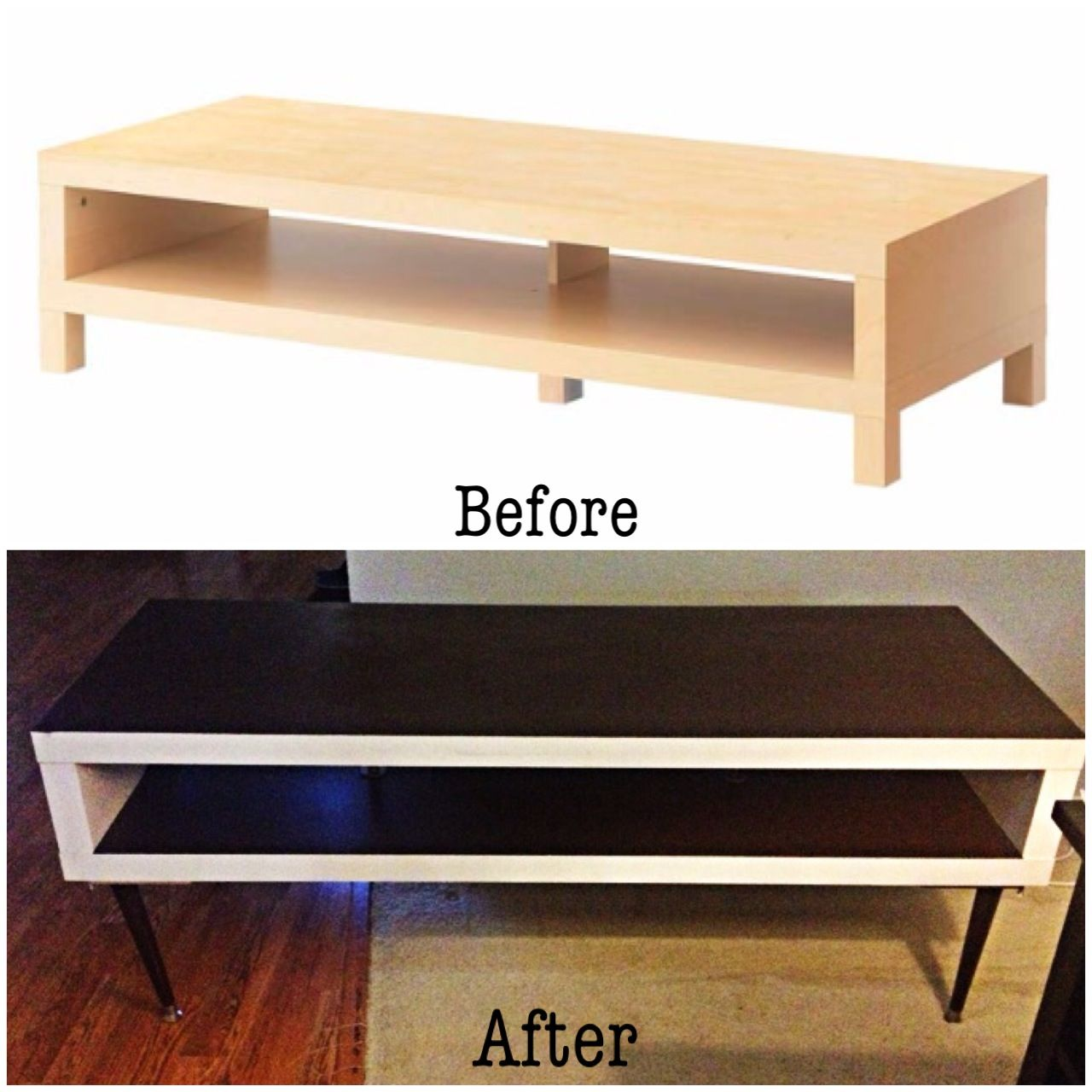 diy ikea hack! lack tv stand to mid century inspired | humble abode