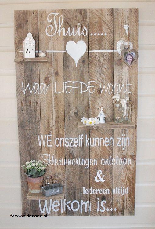Houten Wanddecoratie Bord.Wanddecoratiebord Thuis In 2019 Mooie Foto S Met