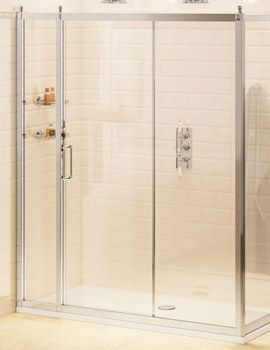 Burlington Soft Close Slider Door 1100mm And 800mm Side Panel Bu76 Shower Doors Frameless Sliding Doors Slider Door