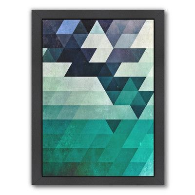 Americanflat Spires Aqww Hyx Framed Graphic Art Frame Color Geometric Art Graphic Art Print Wall Art
