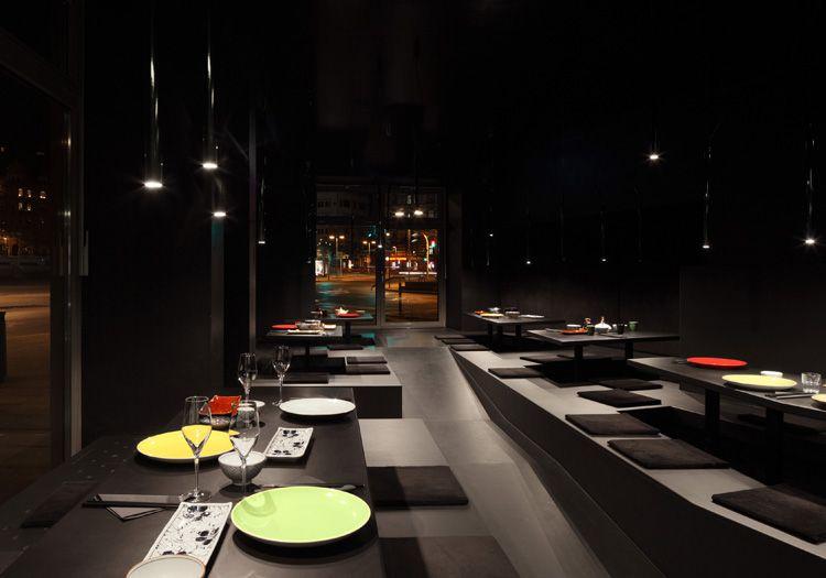 noir restaurant in stuttgart interior design bars restaurants pinterest. Black Bedroom Furniture Sets. Home Design Ideas