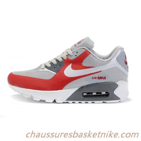 sports shoes 2beb4 6cecf ... new zealand nike air max 90 chaussures rouge gris blanc chaussures  couple b29b6 a528c