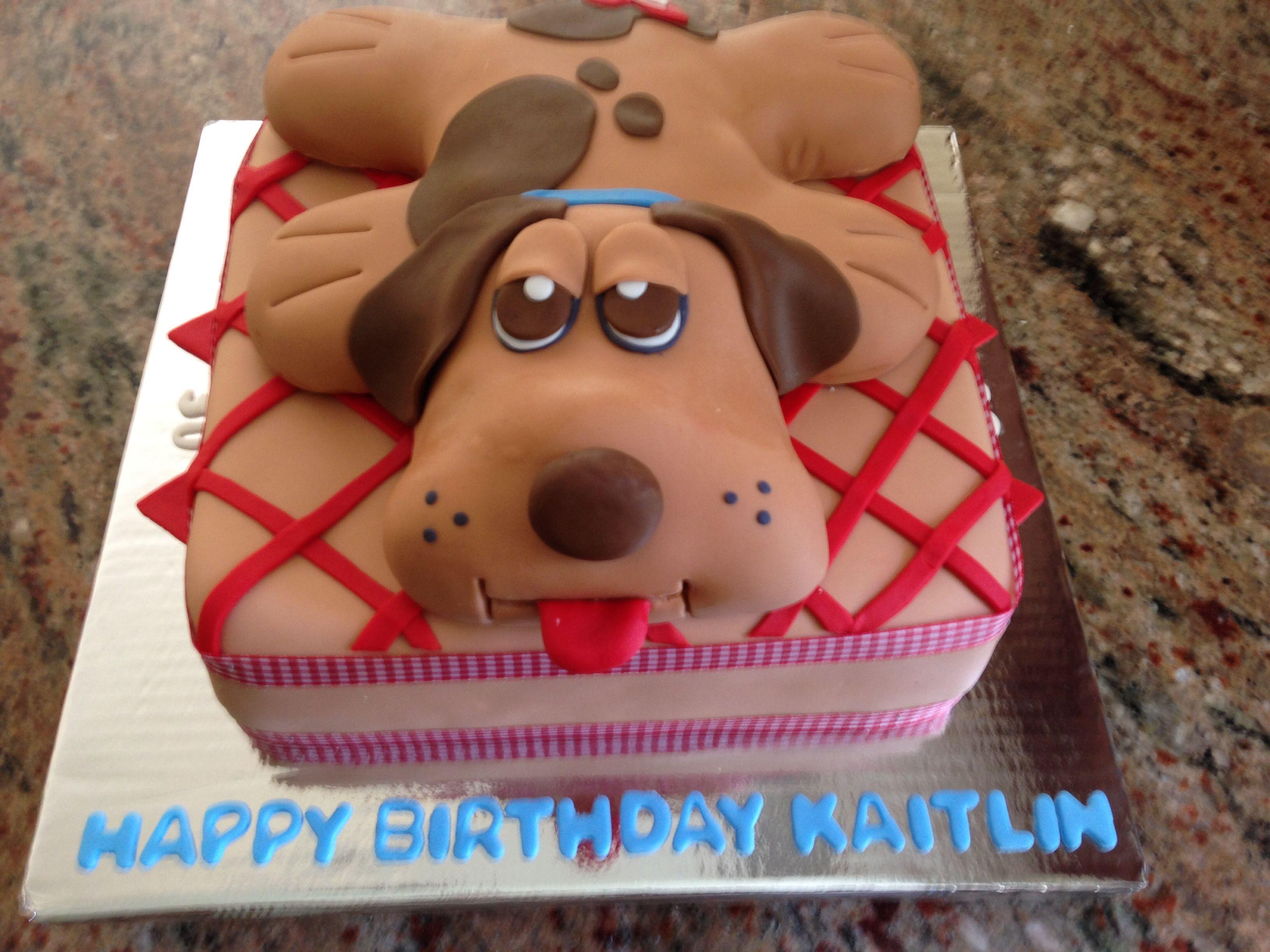 Pound Puppy cake 80 s birthday