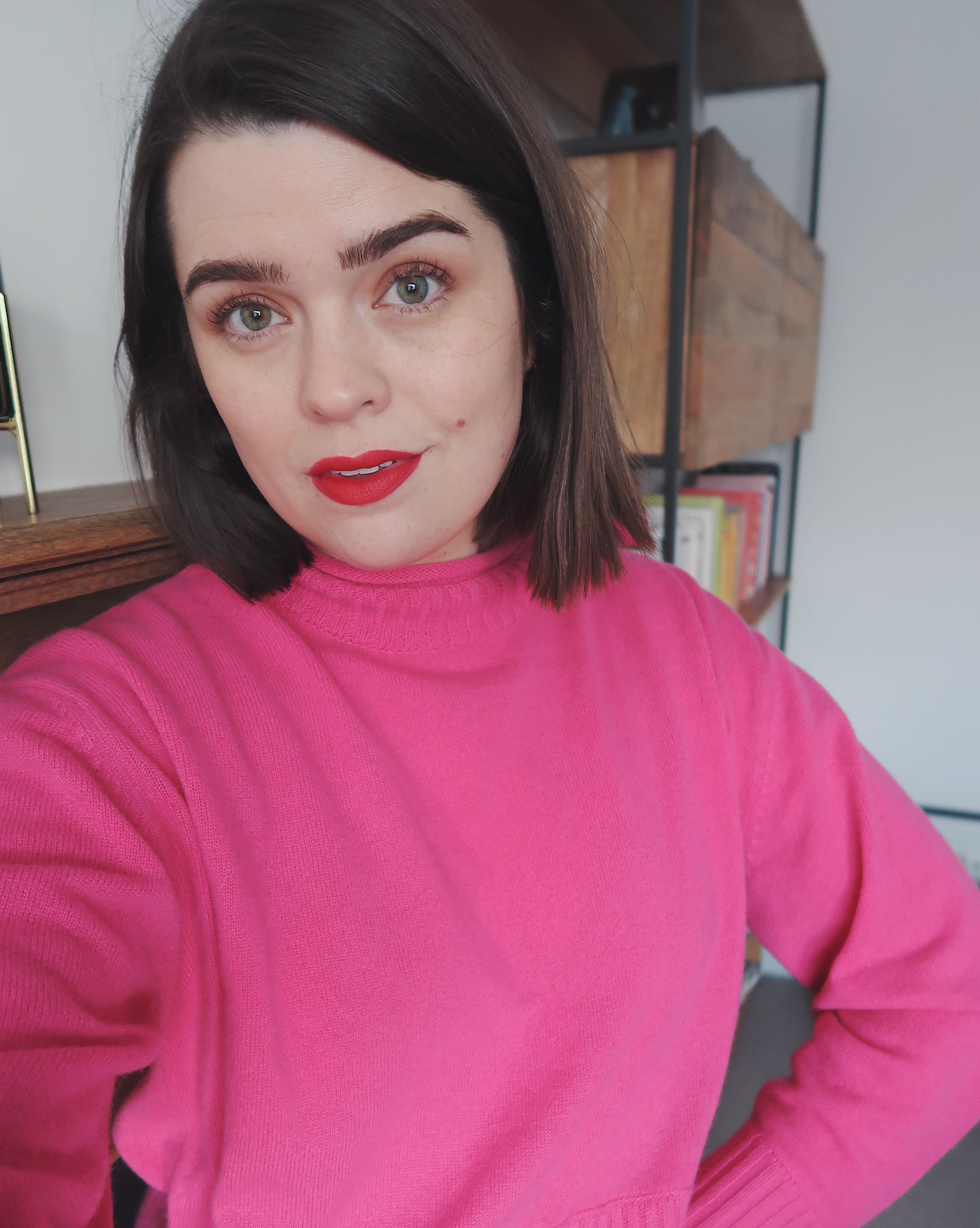 Pin By Kristin Firmin On Makeup Pink Jumper Instagram Red Lips