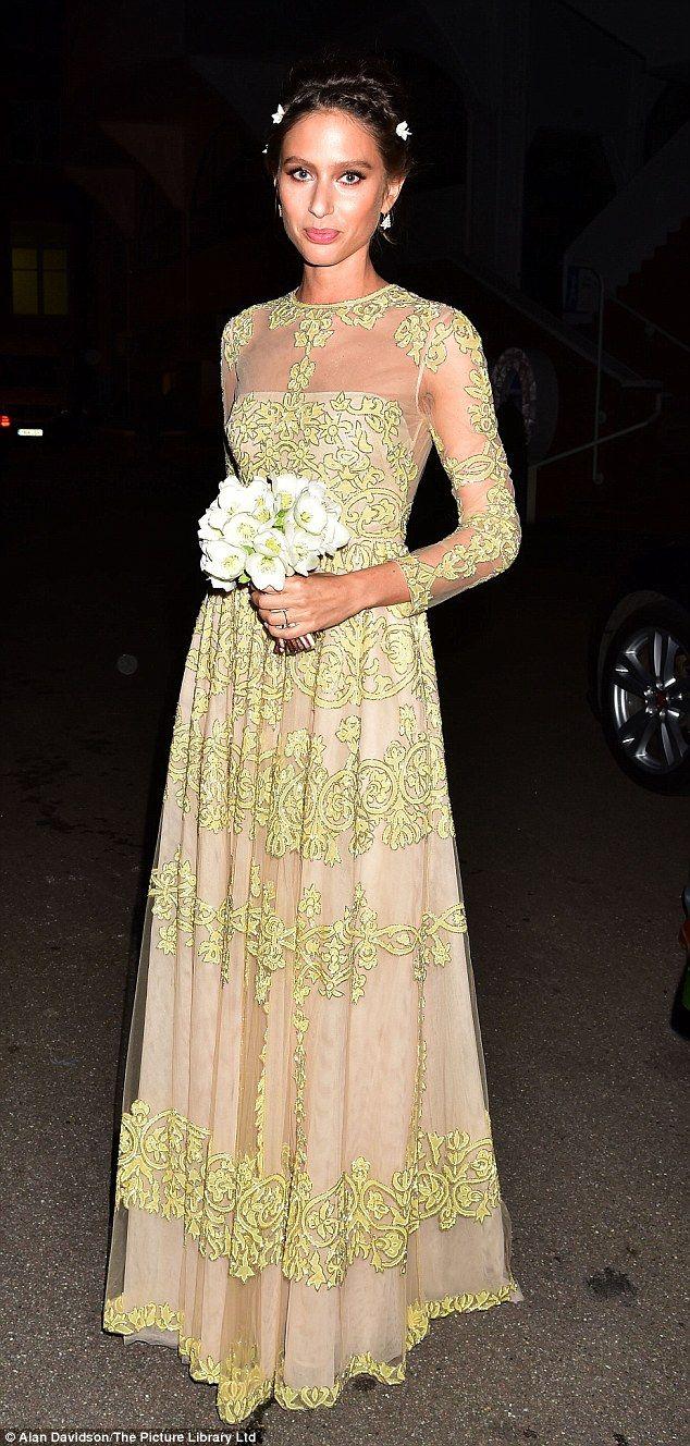 Stunning: Bride Jemima Jones looked regal in her Valentino gown...