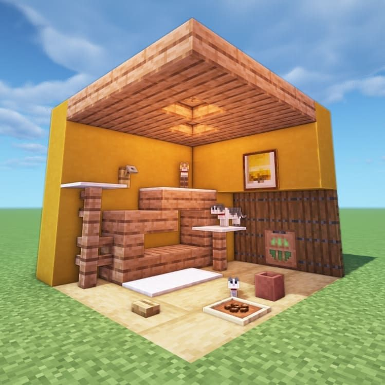 майнкрафт небольшой дом #1