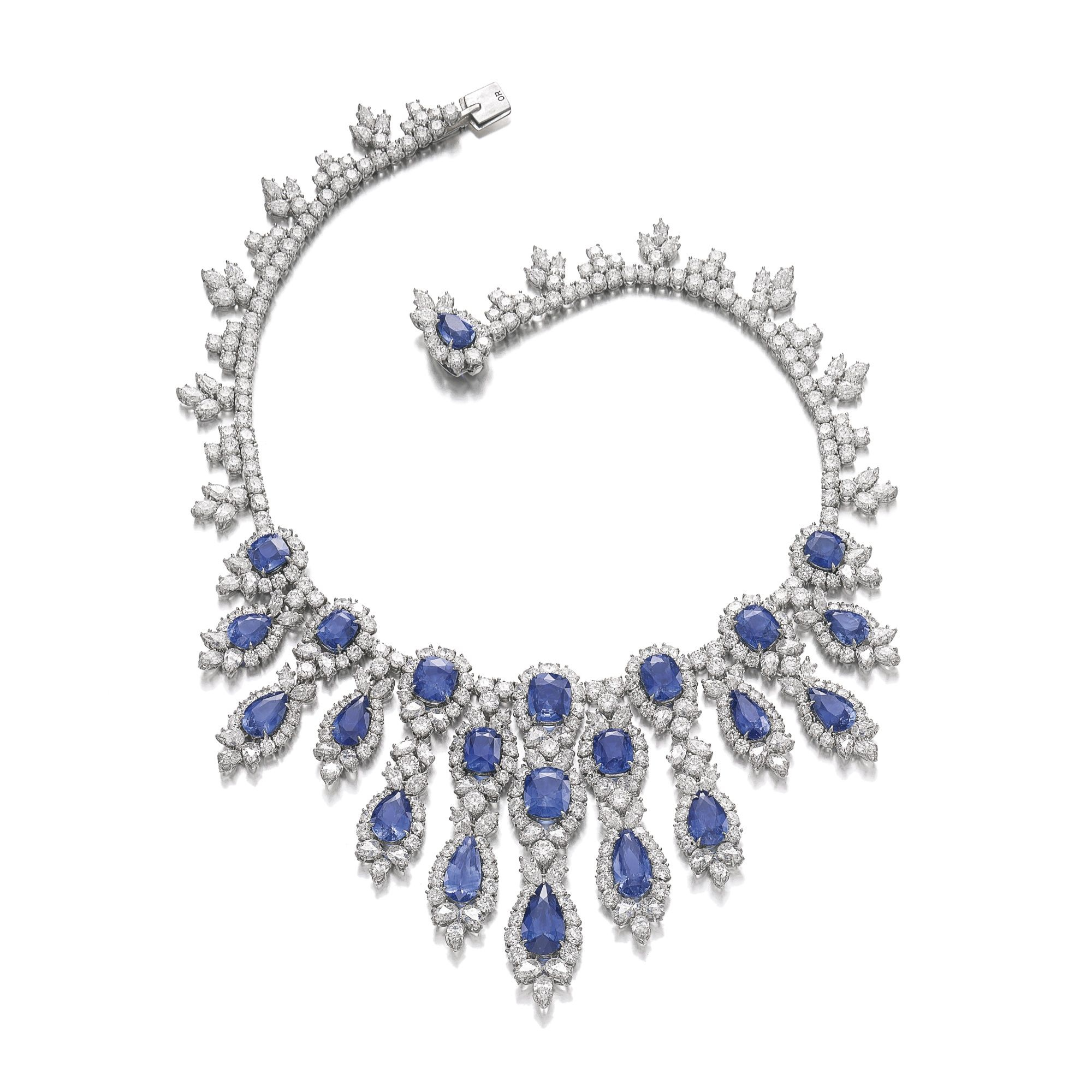 Sapphire and diamond necklace harry winston jewelry for Harry winston jewelry pinterest