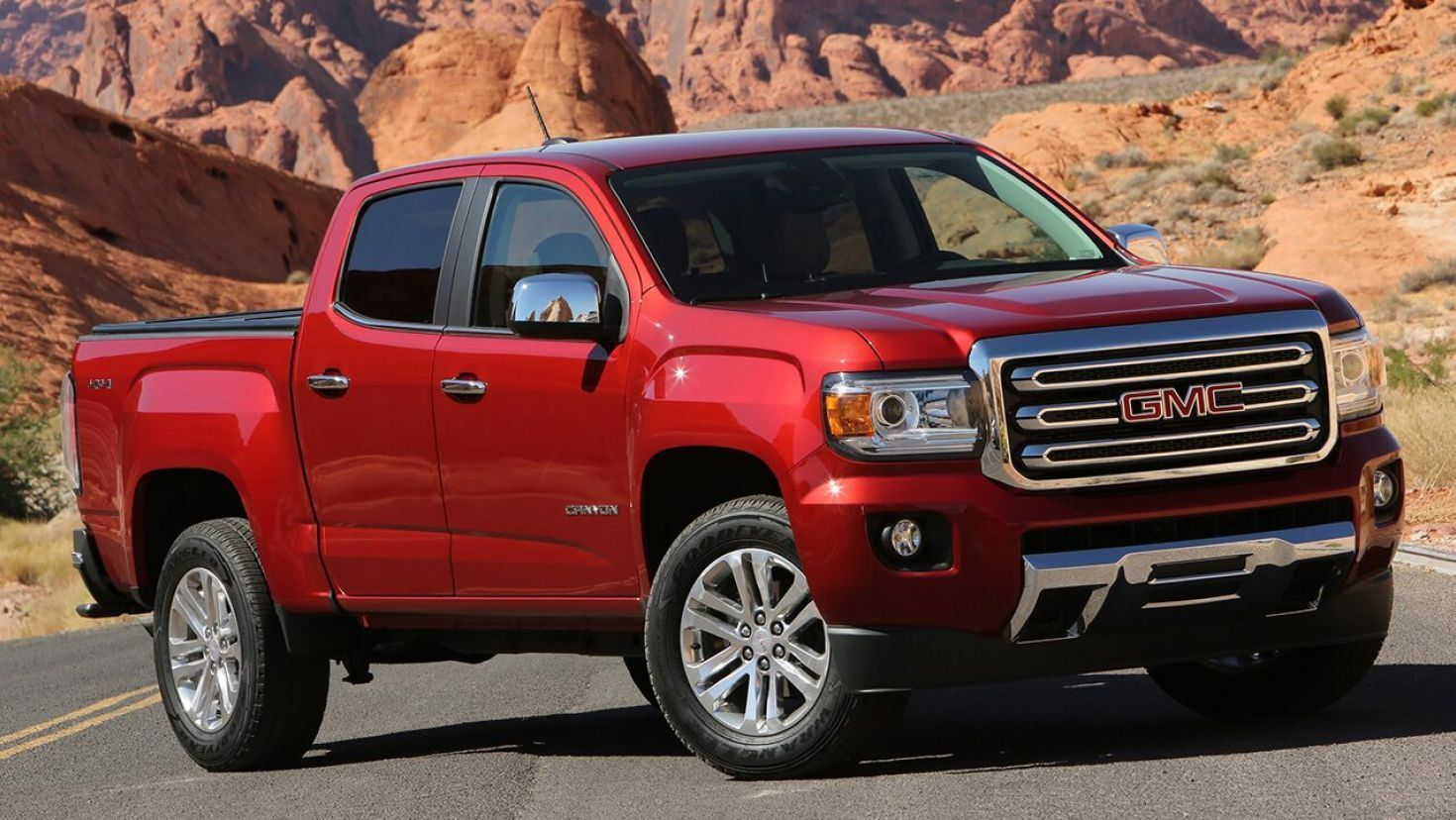 2021 Gmc Canyon Pickup Debuts With New Face In 2020 Gmc Canyon Canyon Diesel Gmc Trucks For Sale