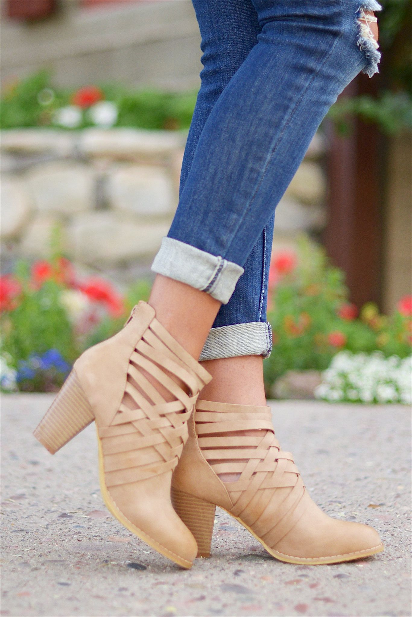 Across The Miles Booties - Beige