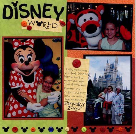 Cute Disney scrapbook idea