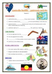 English Worksheets AUSTRALIA An information gapfill
