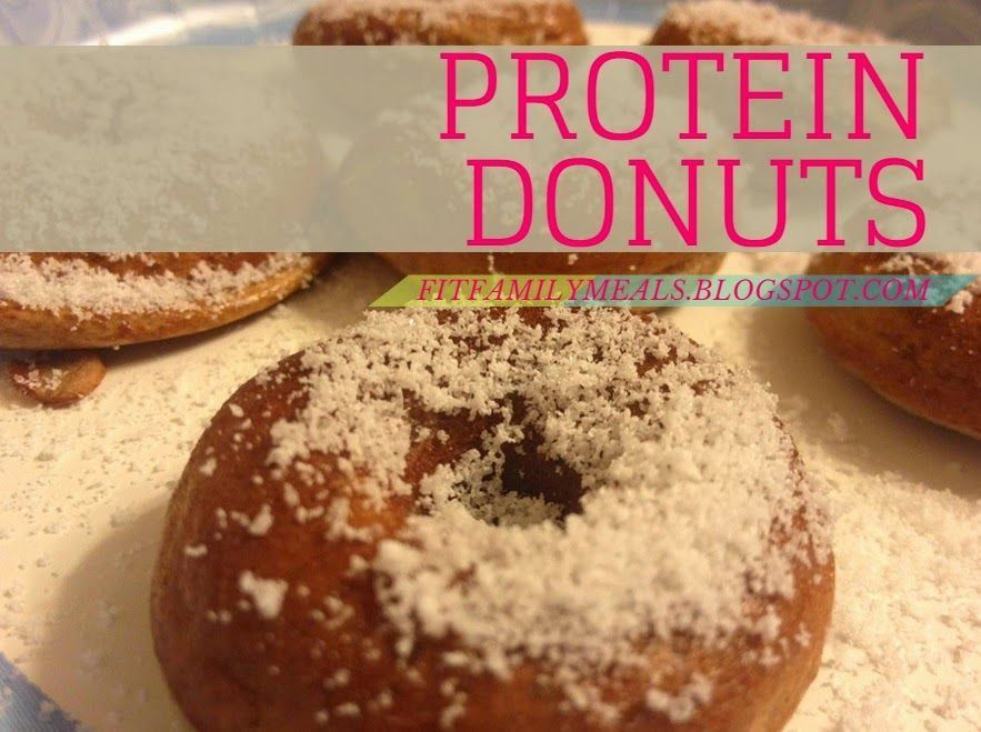 Protein Donuts #proteindonuts There is no taste substitute for a sweet, fat filled, greasy donut. So if hopes are high for that kind of treat this one will be a disappointment. But if you are hunting for an easy to make recipe that is yummy, low calorie, high protein and filling. Here it is! One odd requirement to make this is a miniature baked donut maker! Also it is important to note that the body usually doesn't use more than 30 grams of protein per meal (these have 35) so with that being sai #proteindonuts