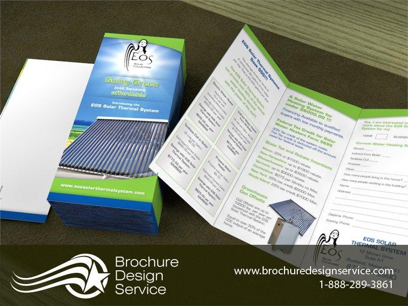 Sample Bi Fold Brochure | Brochure Designers Eos Solar Thermal System Tri Fold Brochure Ltr