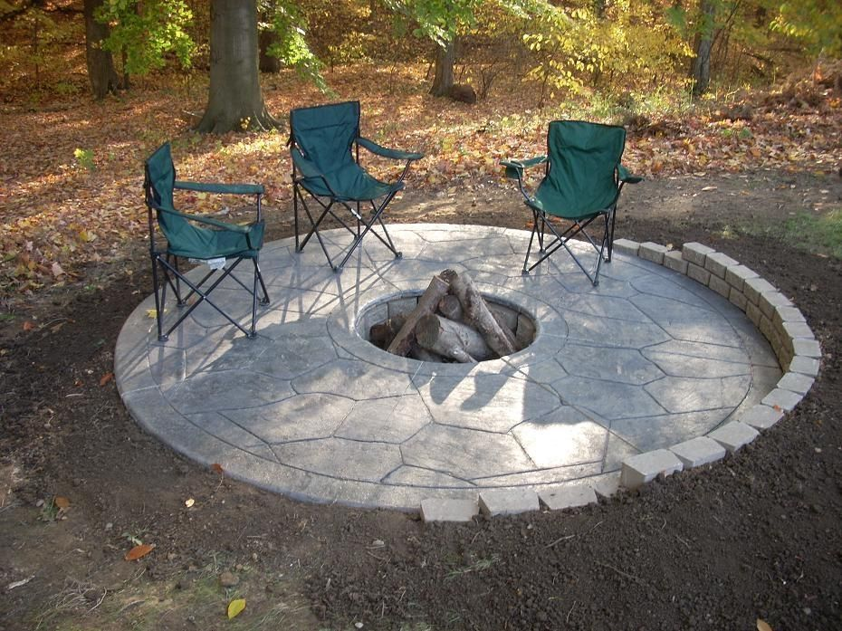 Inexpensive Backyard Fire Pits : Cheap Backyard Fire Pit Ideas Simple Backyard Fire Pit