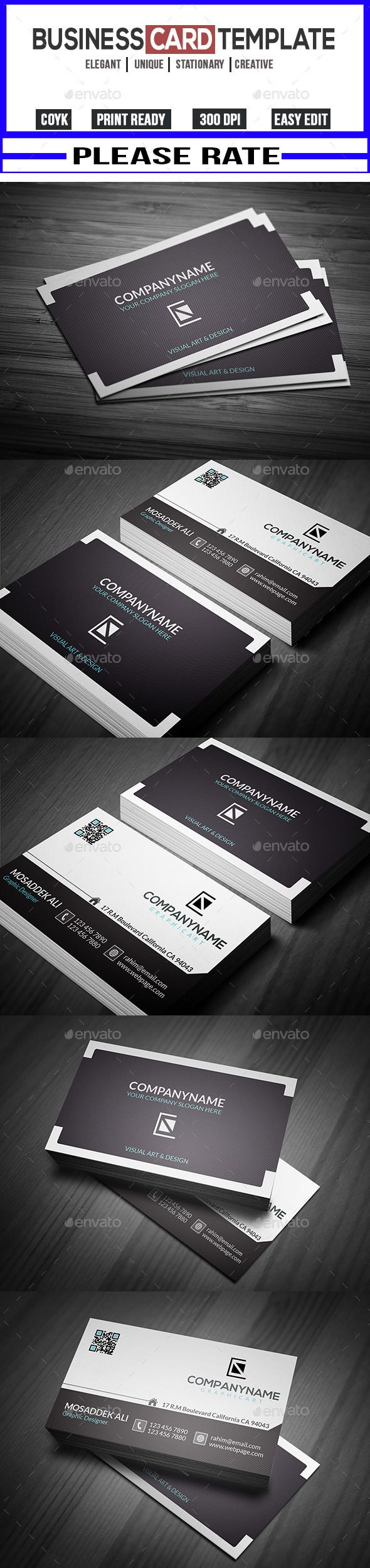 Modern Creative Business Card Template PSD Buy And Download - Buy business card template