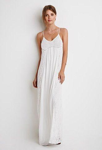 White Maxi Dress Forever 21