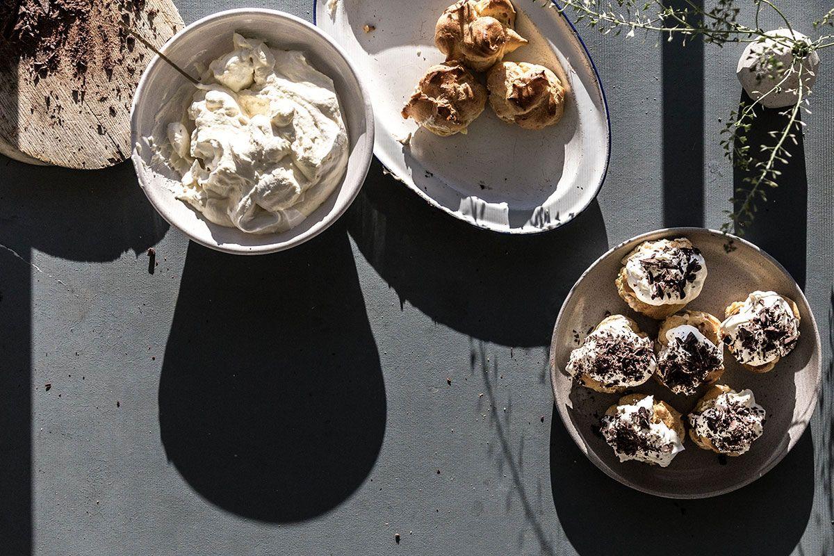 Chestnut cream puffs