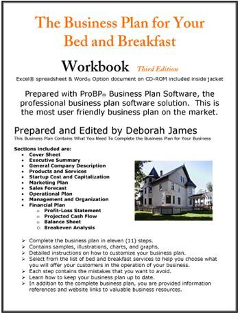 Bed and Breakfast Business PlanI hope to own and operate a BB in - business plan excel spreadsheet