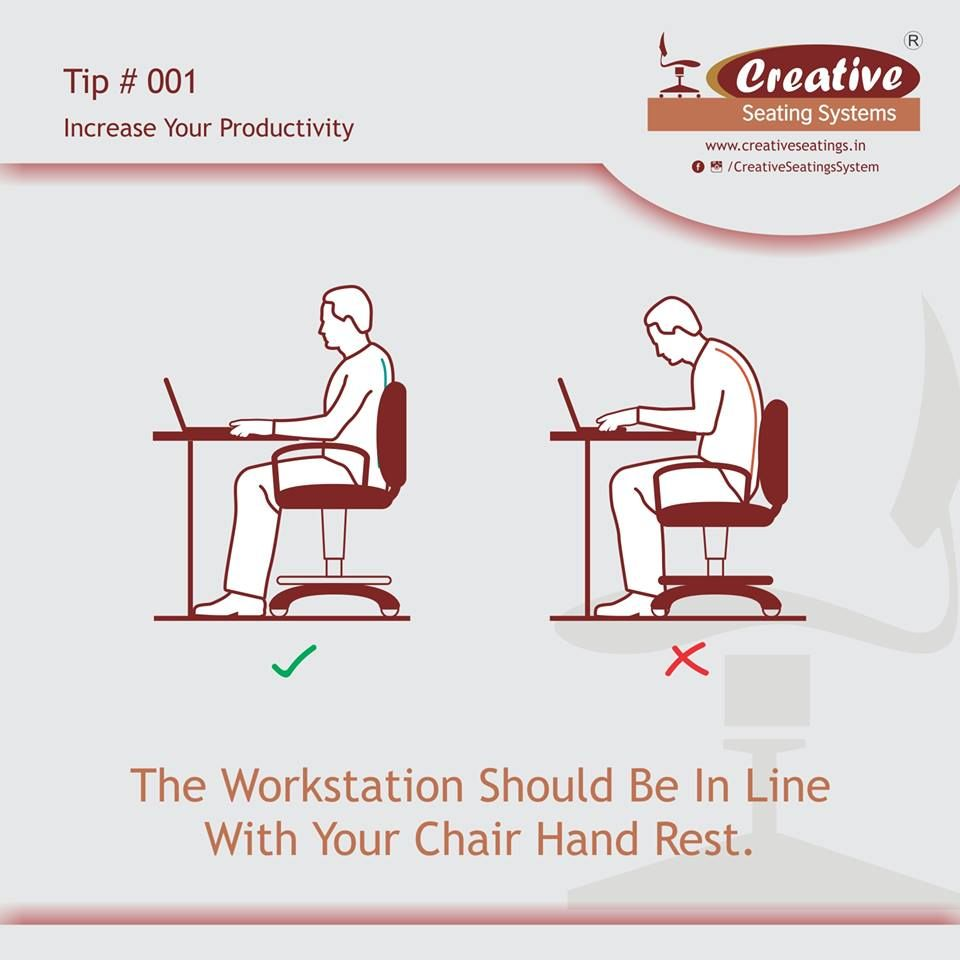 How to increase your productivity at work? #SeatUpRight