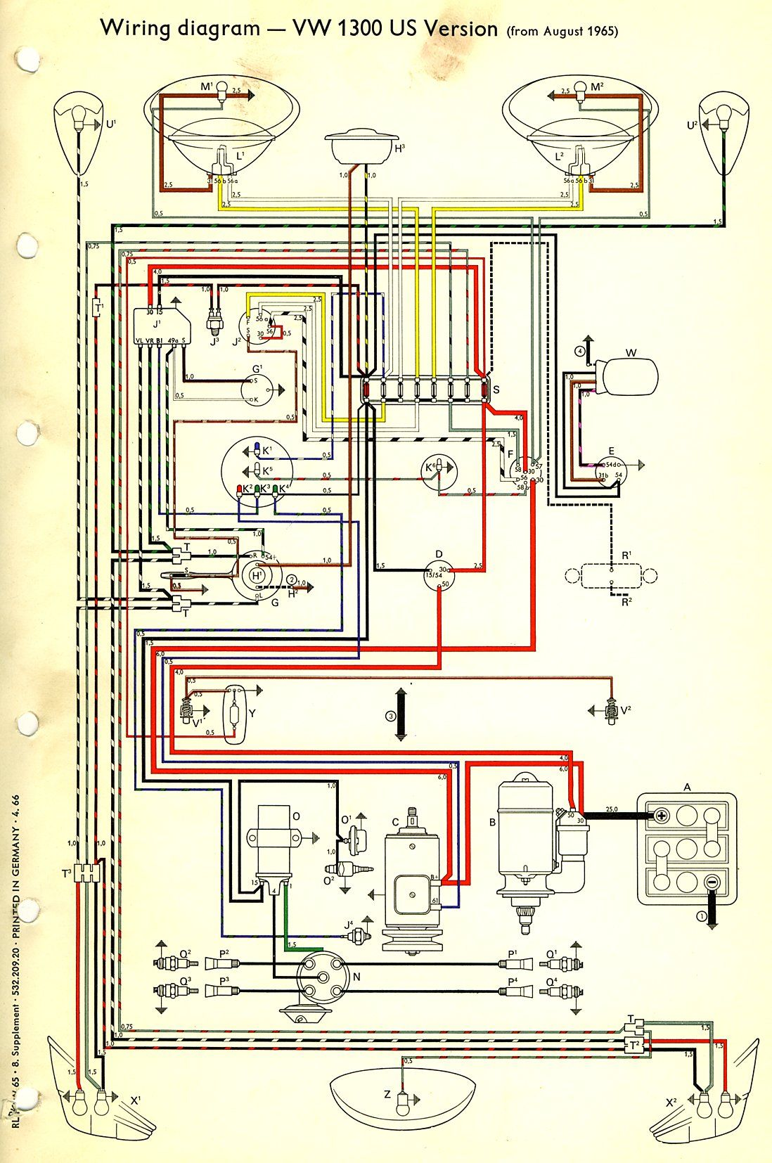 dune buggy wiring schematic - Google Search Dune Buggies, Beetle, Diagram,  Type 1