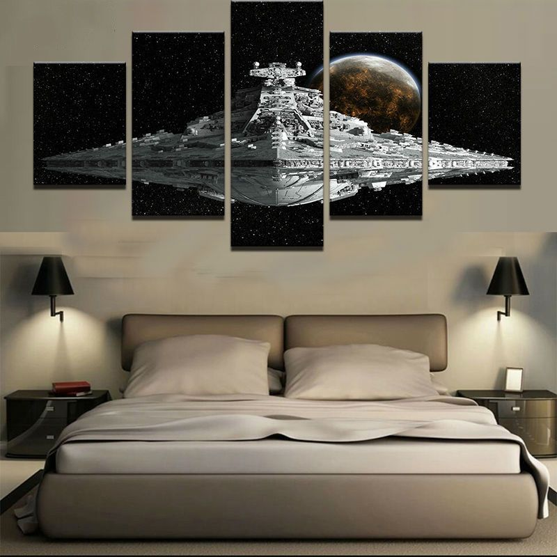 Bring The Art Of Home With Star Wars Canvas Painting 2018 Star Wars Bedroom Star Wars Wall Art Star Wars Canvas Painting