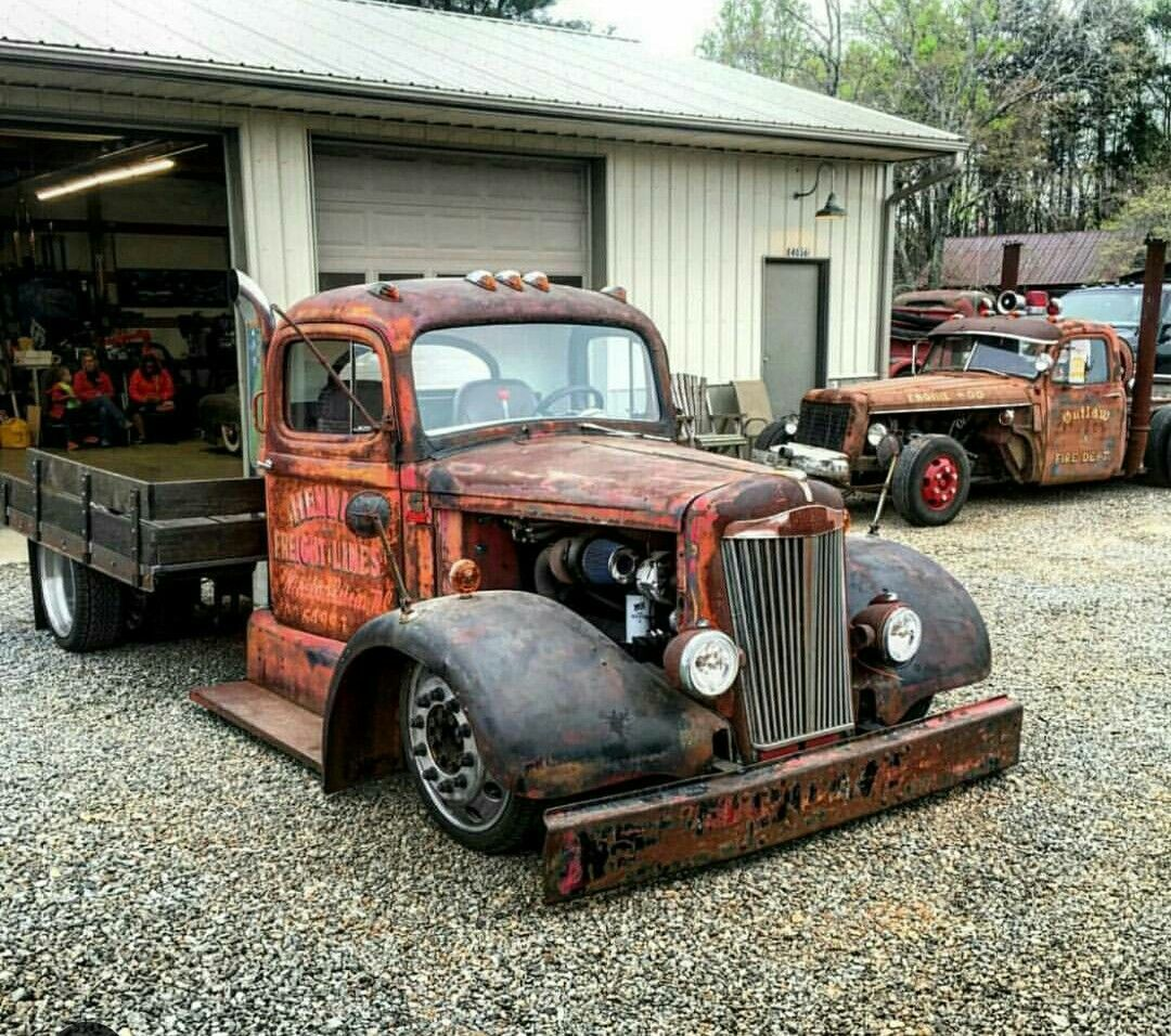 Mack Truck Rod Before And After: Dually Trucks, Trucks, Diesel Rat Rod