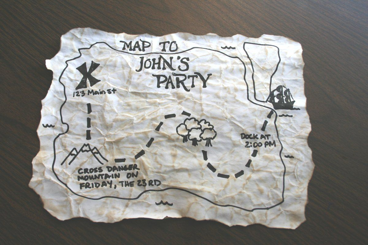Pirate party invitation in a bottle. | Pirate Birthday Party ...