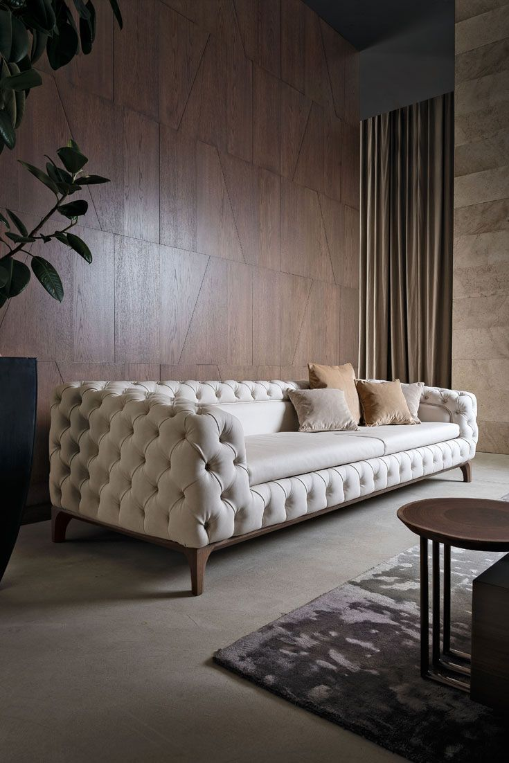 Luxury furniture Luxury Italian Designer Button Upholstered