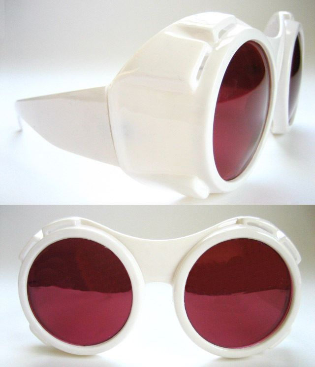 WILLY WONKA CHARLIE AND THE CHOCOLATE FACTORY STYLE FANCY DRESS WHITE GOGGLES