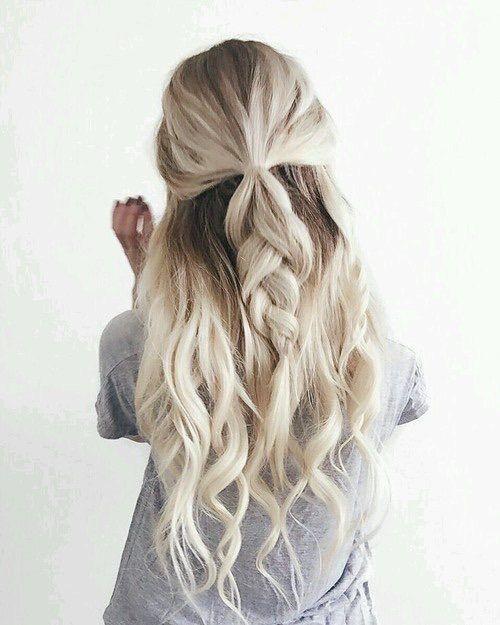Half Up Half Down Hair Inspiration Pinterest Hair Style