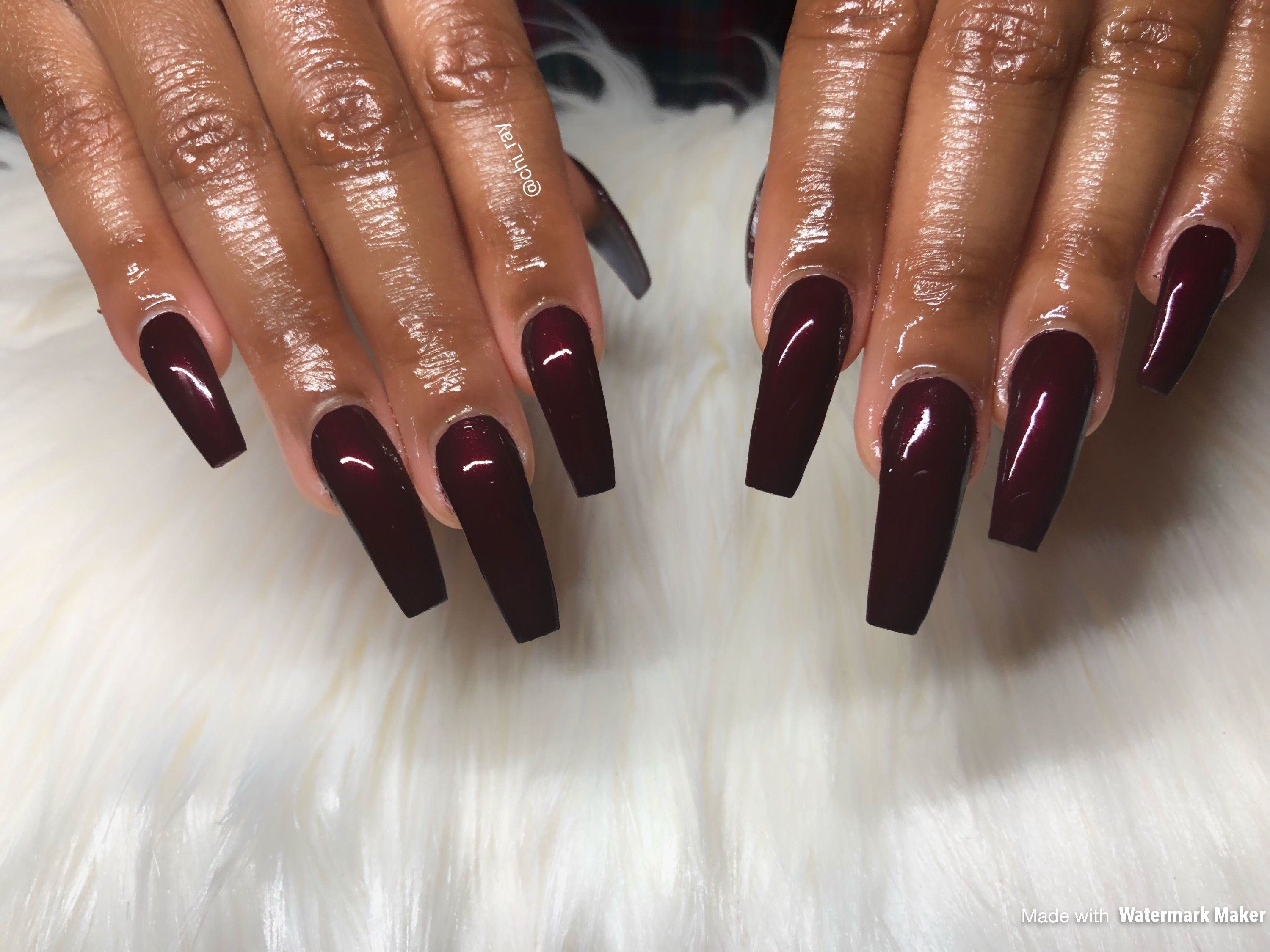 Merlot Winter Nail Trends Long Tapered Square Nails Coffin Nails ...