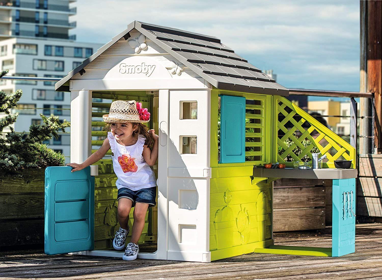 Smoby Pretty Haus Spielhaus Fur Kinder Fur Drinnen Und Draussen In 2020 Kinder Spielhaus Spielzeug Draussen Kinder