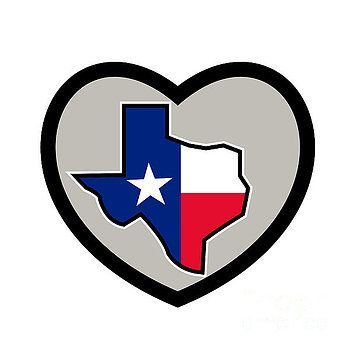 Texas Flag Map Inside Heart Icon By Aloysius Patrimonio Heart Icons Retro Prints Retro Illustration