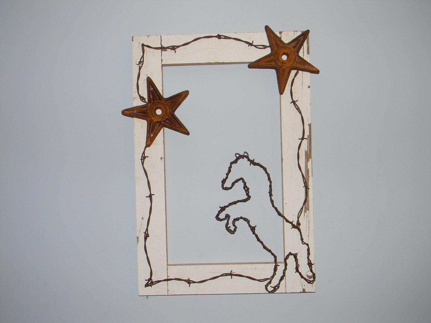 Western Decor Rearing barbed wire horse and by ReneeHeineCreations ...