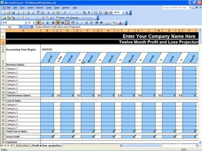 Doc509736 Business Profit and Loss Template Profit and Loss – Excel Profit and Loss Template