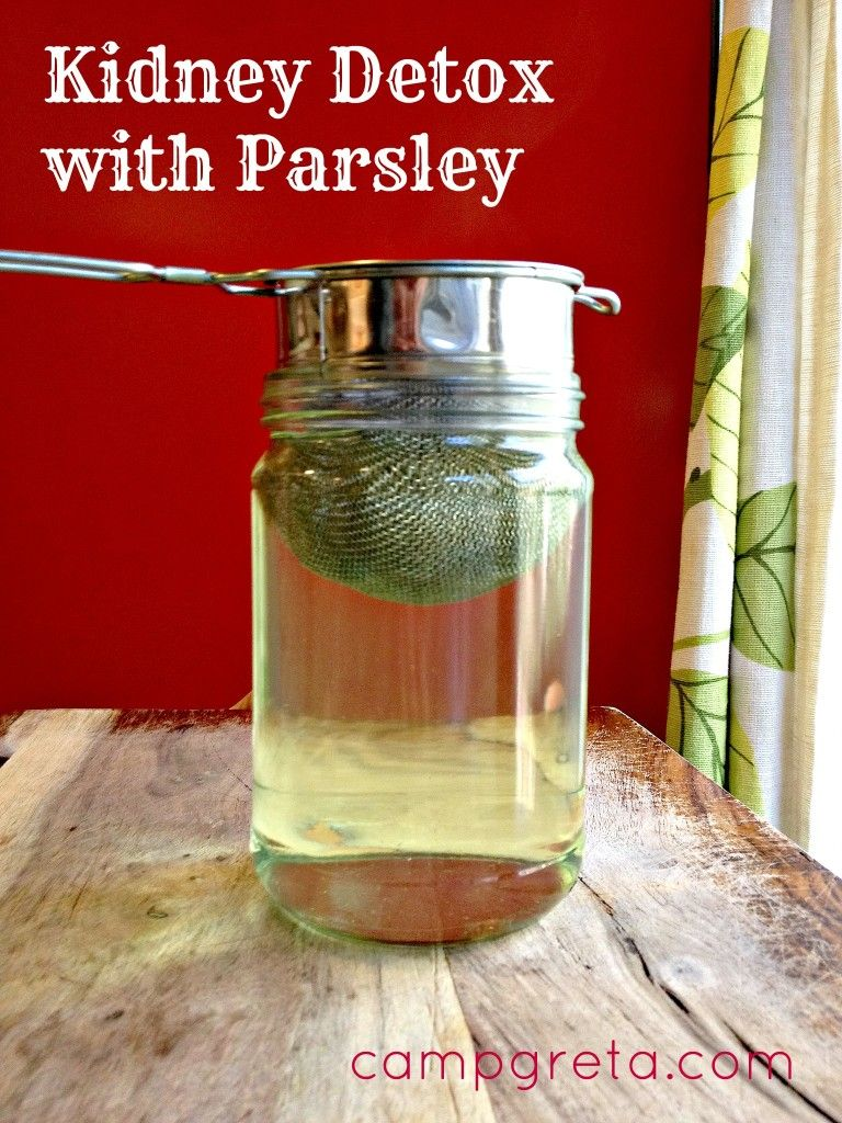 Kidney Detox with Parsley - this is just what I needed this