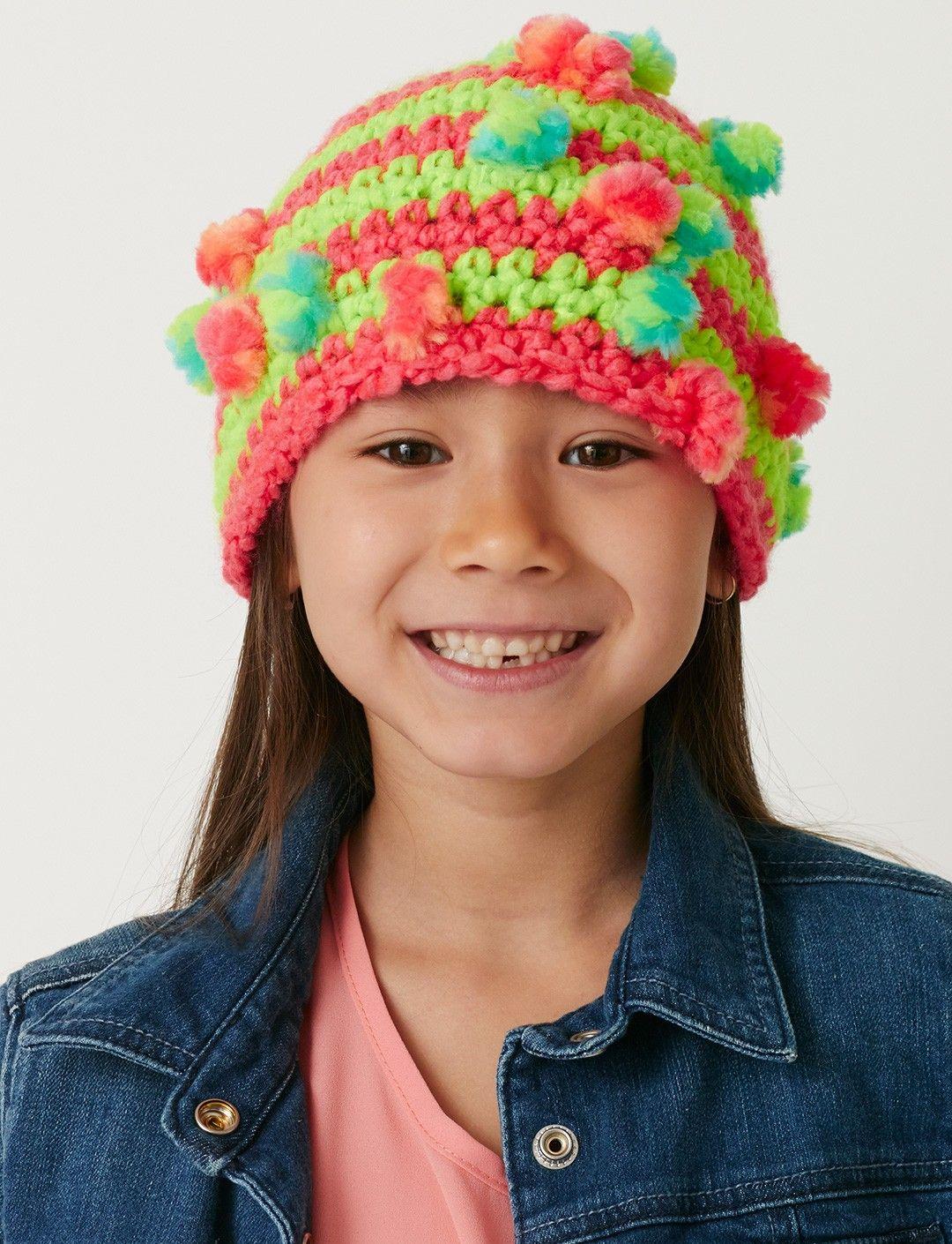 02da92164c9 Yarnspirations.com - Bernat Pop the Top Hat - free Pattern - crochet - easy