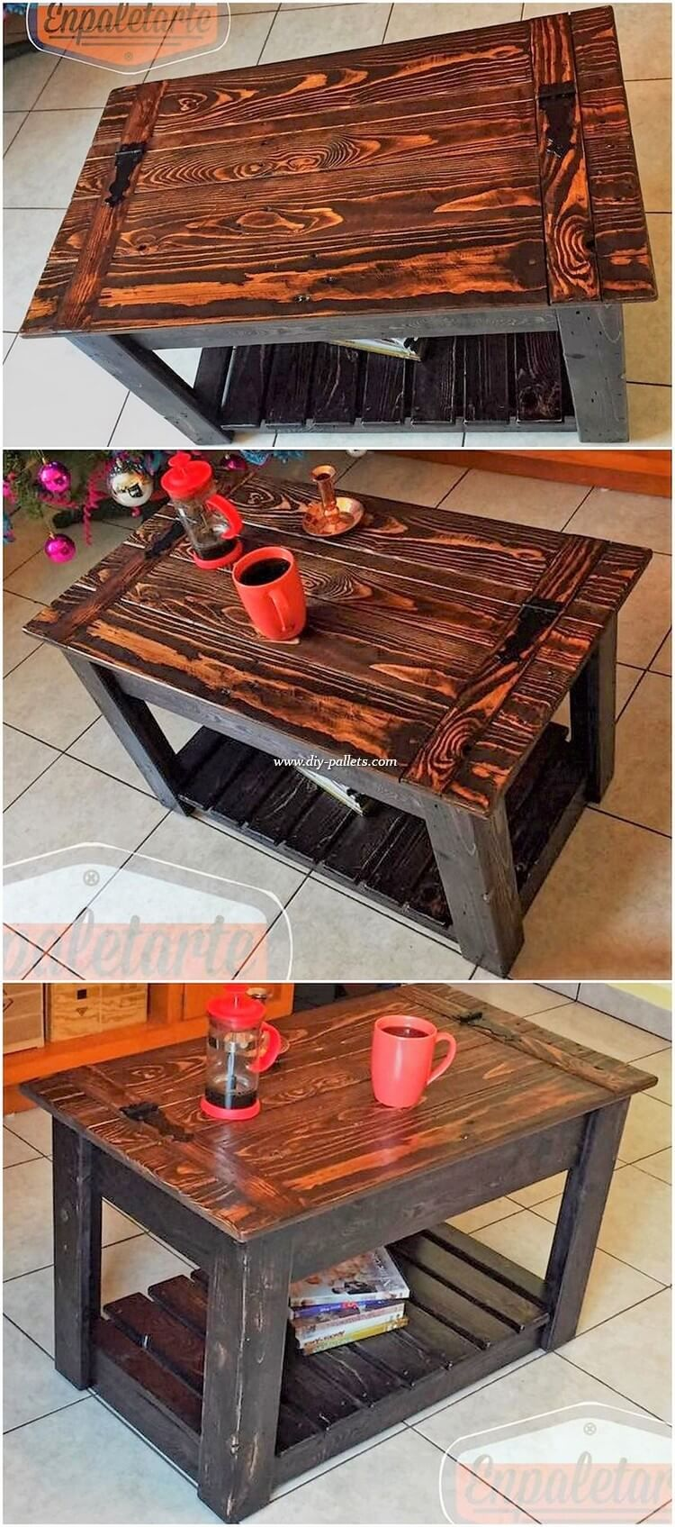 Coffee Table Design Is Right Here For You This Coffee Table Has Been All Carried Out With The Best Association Of Pallet Diy Furniture Making Pallet Furniture [ 1695 x 750 Pixel ]