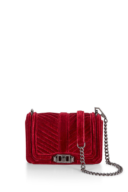 Rebecca Minkoff Chevron Quilted Small Love Crossbody Bag #fallstyle #velvet #handbag #RebeccaMinkoff